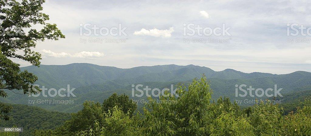 Panorama of the Blue Ridge Mountains royalty-free stock photo