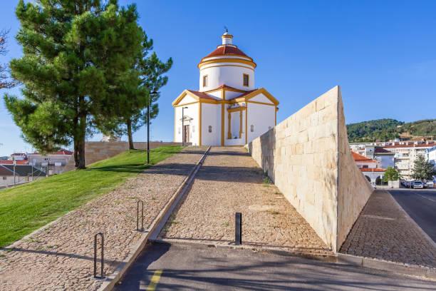 panorama of the calvario church in portalegre - portalegre imagens e fotografias de stock