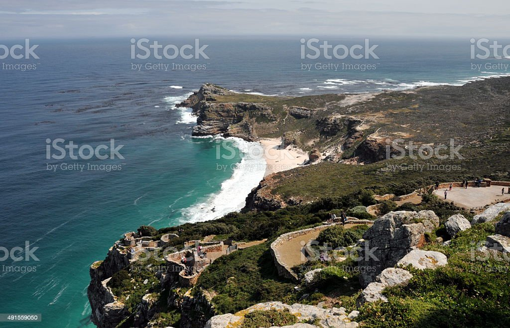 Panorama of the Cape of Good Hope South Africa stock photo