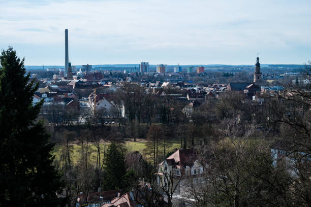 Panorama of the city Erlangen in Bavaria. Germany Panorama of the city Erlangen in Bavaria. Germany erlangen stock pictures, royalty-free photos & images