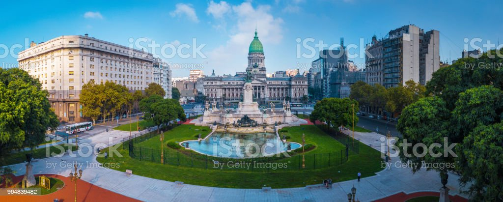Panorama of the city of Buenos Aires stock photo