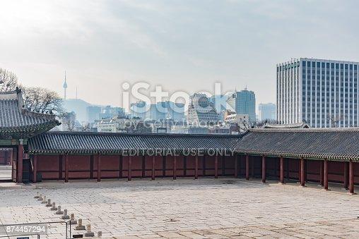 962814924 istock photo panorama of the city of Seoul in Korea 874457294