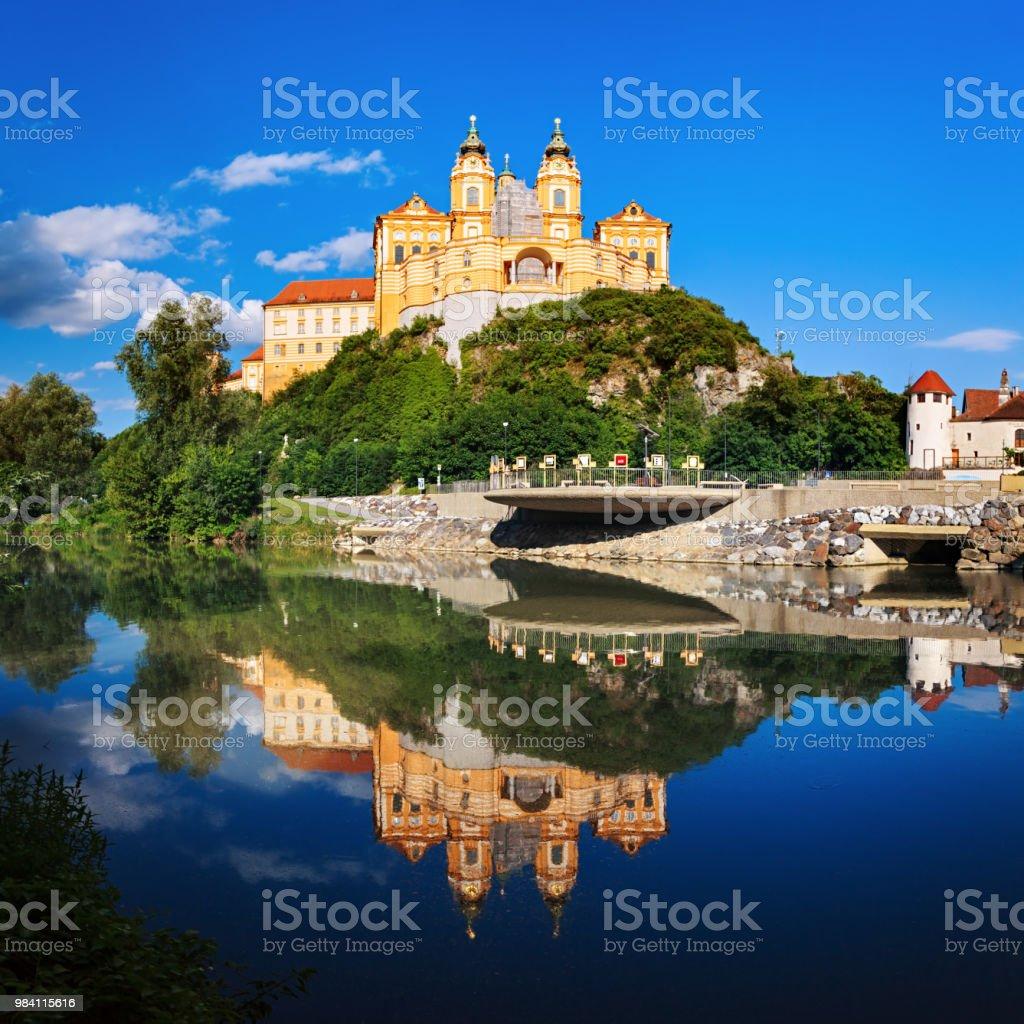 Panorama des berühmten St. Peter und Paul Church, Benediktiner Stift Melk, Wachau Valley, Niederösterreich – Foto
