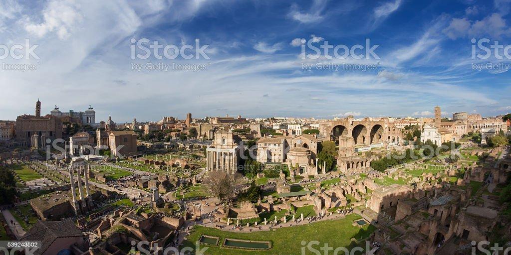 El foro Romanum Panorama de foto de stock libre de derechos