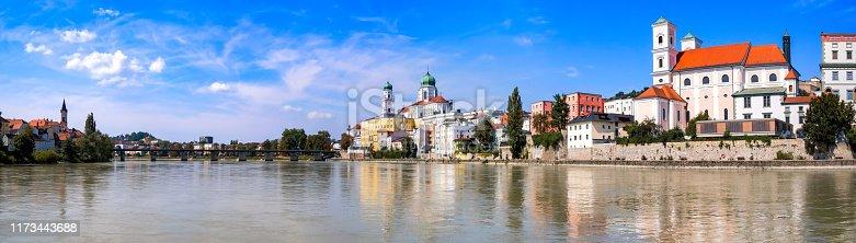 Panorama of the City Passau in Bavaria, Germany