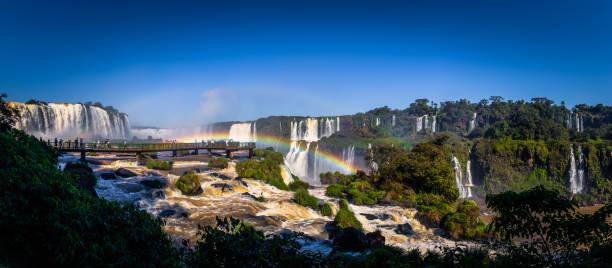 Foz Iguazu - 23. Juni 2017: Panorama der Iguazu Wasserfälle in Foz Iguazu, Brasilien – Foto