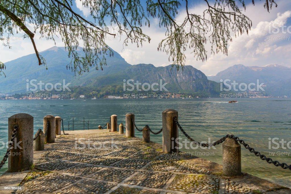 Panorama of the Lake of Como royalty-free stock photo