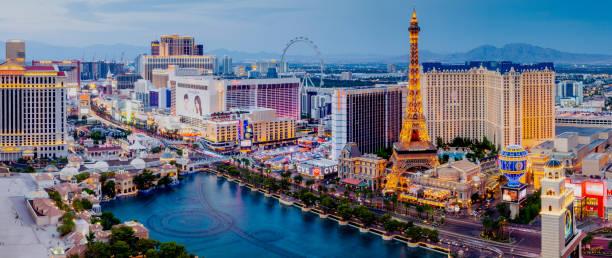 Panorama of the Las Vegas Strip stock photo