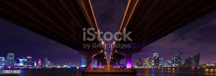 istock Panorama of the MacArthur Causeway in Miami 108314835