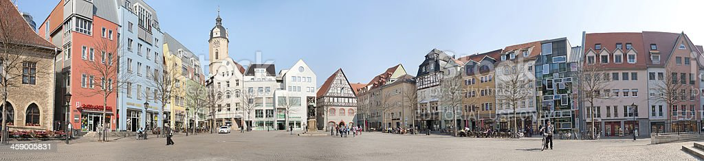 Panorama of the market place in Jena /Germany stock photo