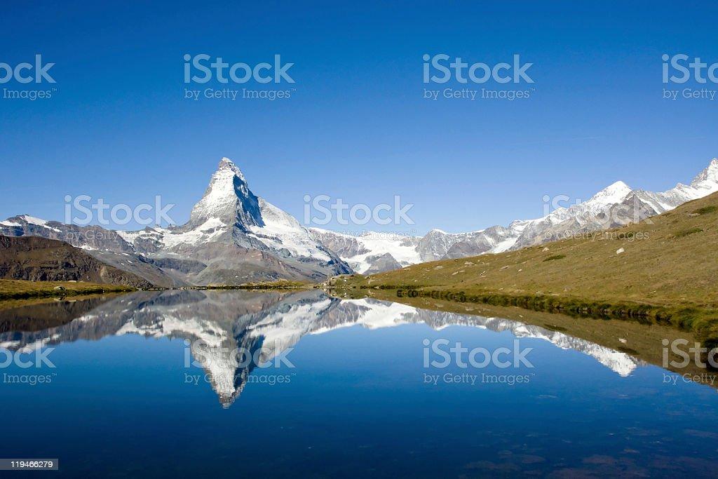Panorama of the Matterhorn stock photo