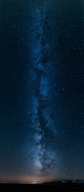 Panorama of the Milky Way stock photo