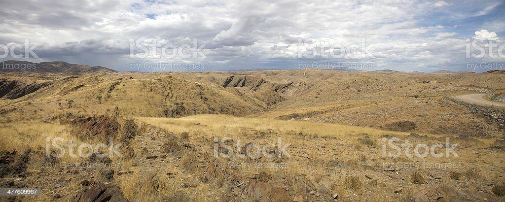 Panorama of the Namib Desert royalty-free stock photo