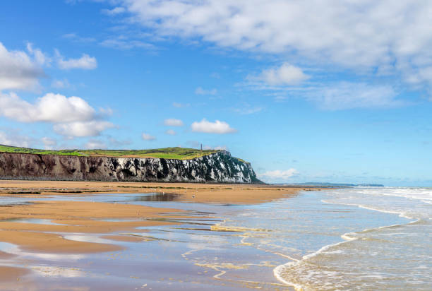 panorama of the north coast of France panorama of the coast near the city of Calais hauts de france stock pictures, royalty-free photos & images