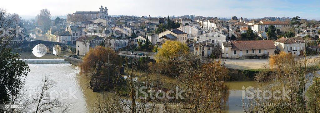 Panorama de la vieille ville de Nérac - Photo