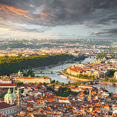 istock Panorama of the old Prague from the Petrin tower, Czech Republic. 901609976