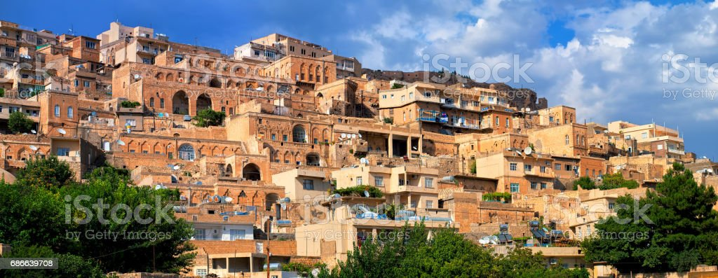 Panorama of the old town of Mardin, Turkey royalty-free stock photo