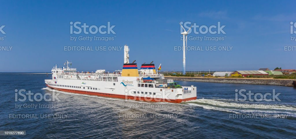 Panorama von der Passagierfähre zwischen Insel Borkum und dem deutschen Festland – Foto