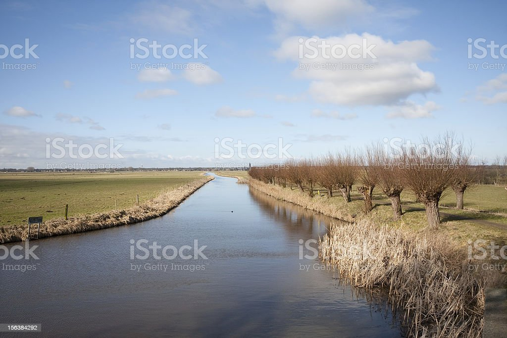 """Panorama of the """"Eemnesser Vaart"""" (Eemnes, Holland) royalty-free stock photo"""