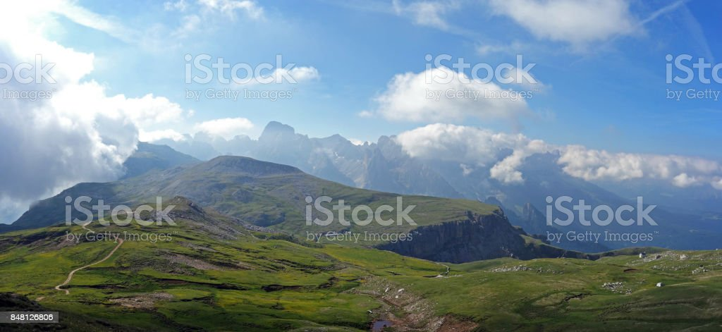 Panorama of the Rosengarten stock photo