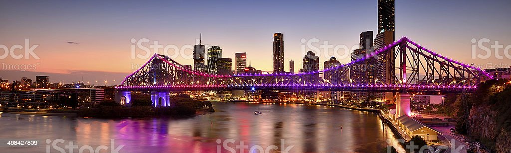 Panorama of the Story Bridge stock photo