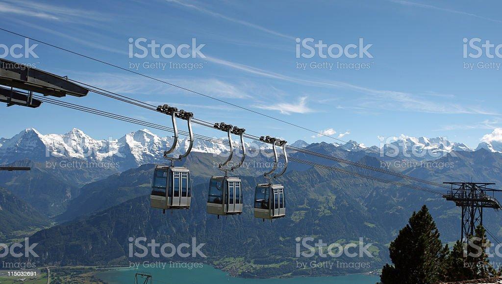 panorama of  the Swiss Bernese Oberland  Alpine peaks  (Switzerland) royalty-free stock photo