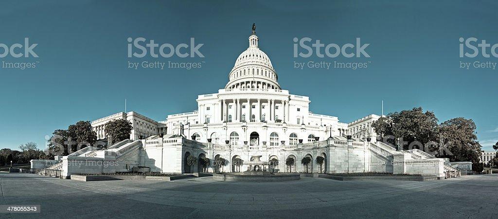 Panorama of the United States Capitol Building, Washington DC stock photo