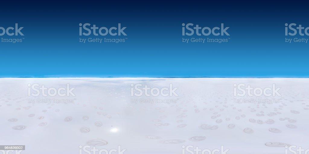 Panorama of the Uyuni salt flat royalty-free stock photo