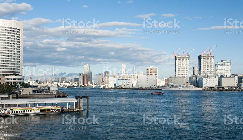 panorama of TOkyo bay stock photo