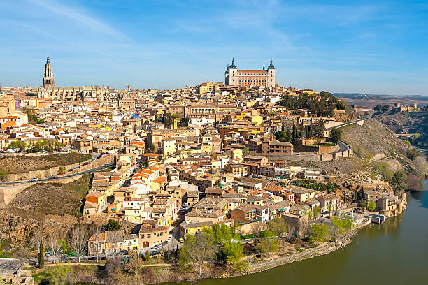 Panorama of Toledo from a high point on sunny day.