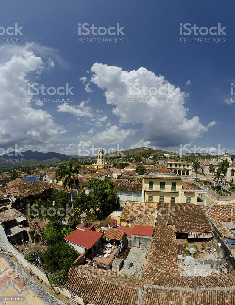 Panorama of Trinidad in Cuba stock photo