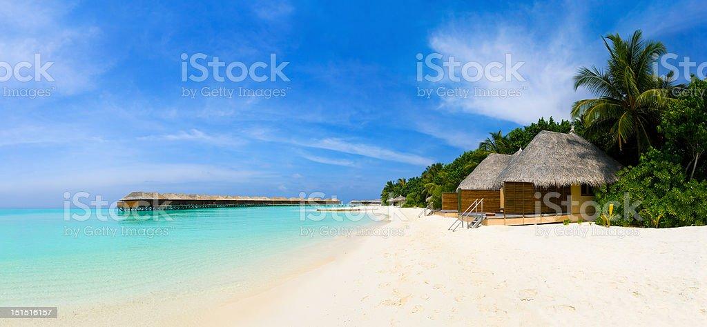Panorama of tropical beach royalty-free stock photo