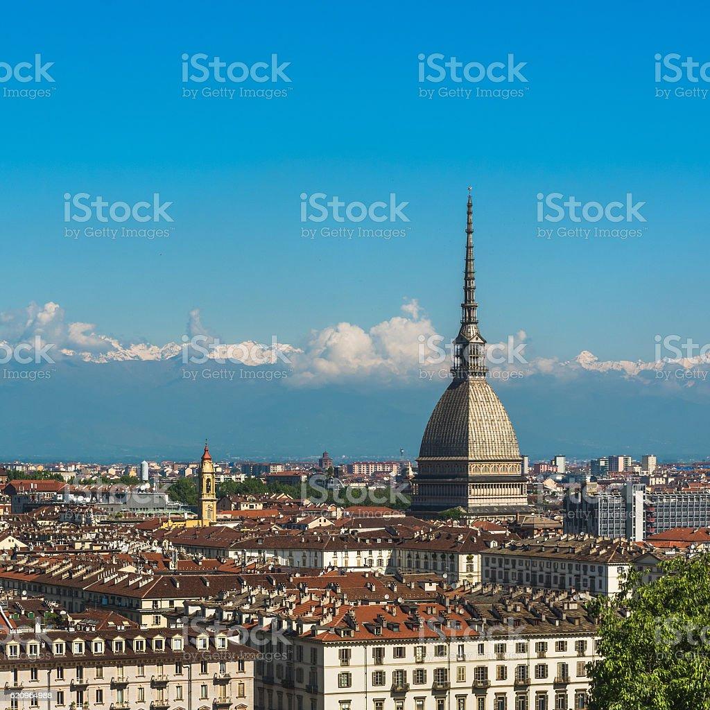 Panorama of Turin skyline stock photo