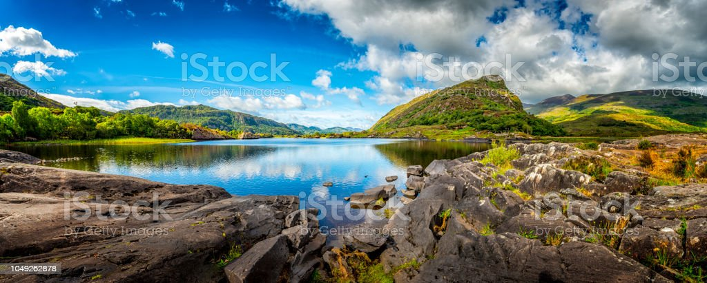 panorama of typical landscape in Ireland stock photo