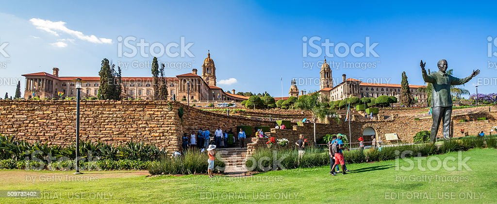Panorama of  Union Buildings in Pretoria stock photo