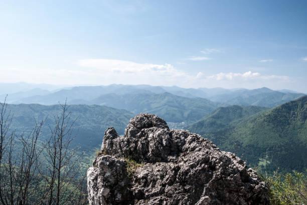 슬로바키아에서 velka fatra 산의 파노라마 - 벨리카 파트라 뉴스 사진 이미지
