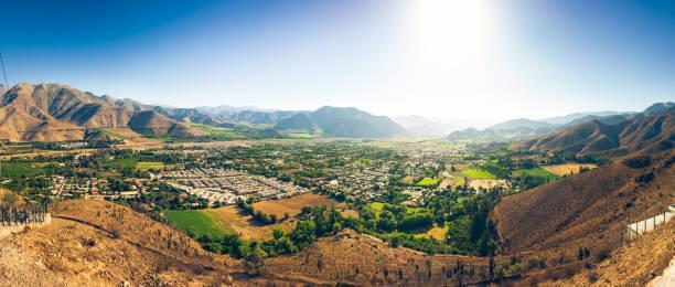 Panorama of Vicuña stock photo