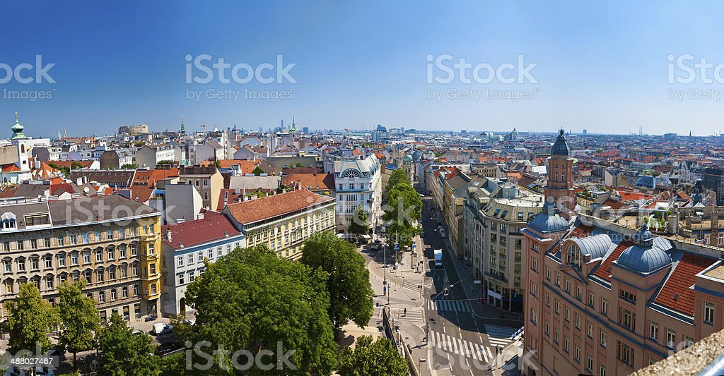 Panorama of Vienna stock photo