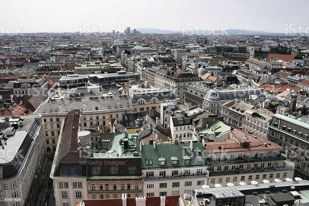 Panorama of Vienna royalty-free stock photo