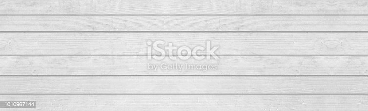 Panorama Of Vintage White Wood Texture And Background Seamless Stock