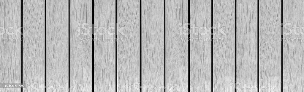 Panorama Of Vintage White Wood Texture And Background Seamless Royalty Free Stock Photo