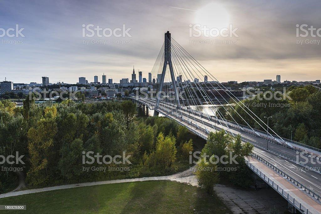 Panorama von Warschau in Polen – Foto