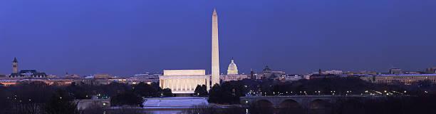Panorama of Washington DC stock photo