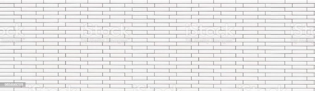 Panorama van witte keramische tegel bakstenen muur textuur en achtergrond - Royalty-free Architectuur Stockfoto