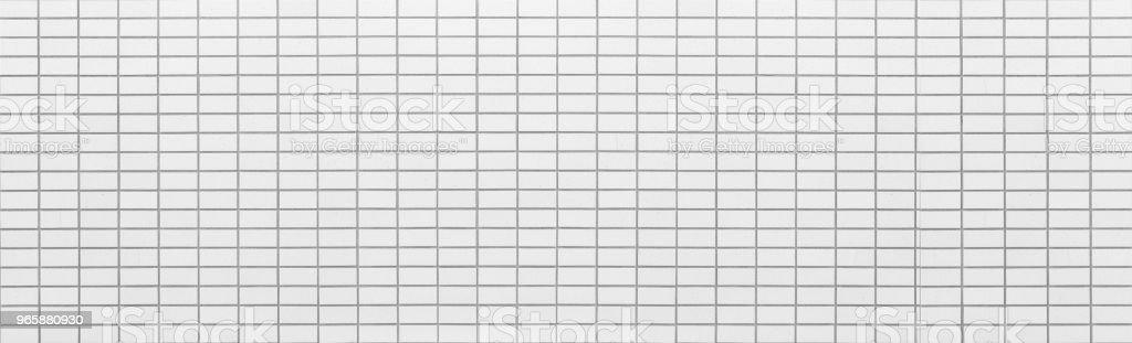 Panorama of White stone brick wall background - Royalty-free Architecture Stock Photo
