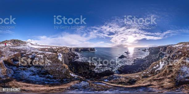 Panorama of wild iceland coastline half covered in snow on beautiful picture id873154082?b=1&k=6&m=873154082&s=612x612&h=tusfgmi19knygjzdal8mx6giohcelkl2h4qluda j0g=