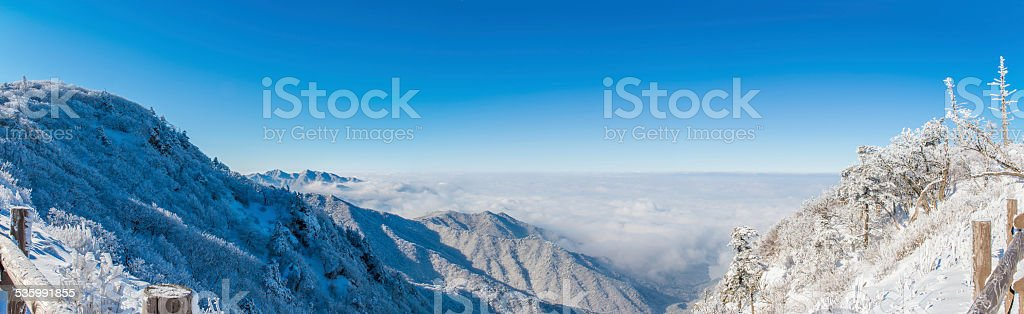 Panorama of winter, korea stock photo