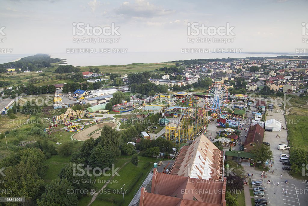 Panorama of Wladyslawowo, Poland royalty-free stock photo