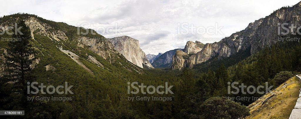 Panorama of Yosemite National Park California Valley royalty-free stock photo