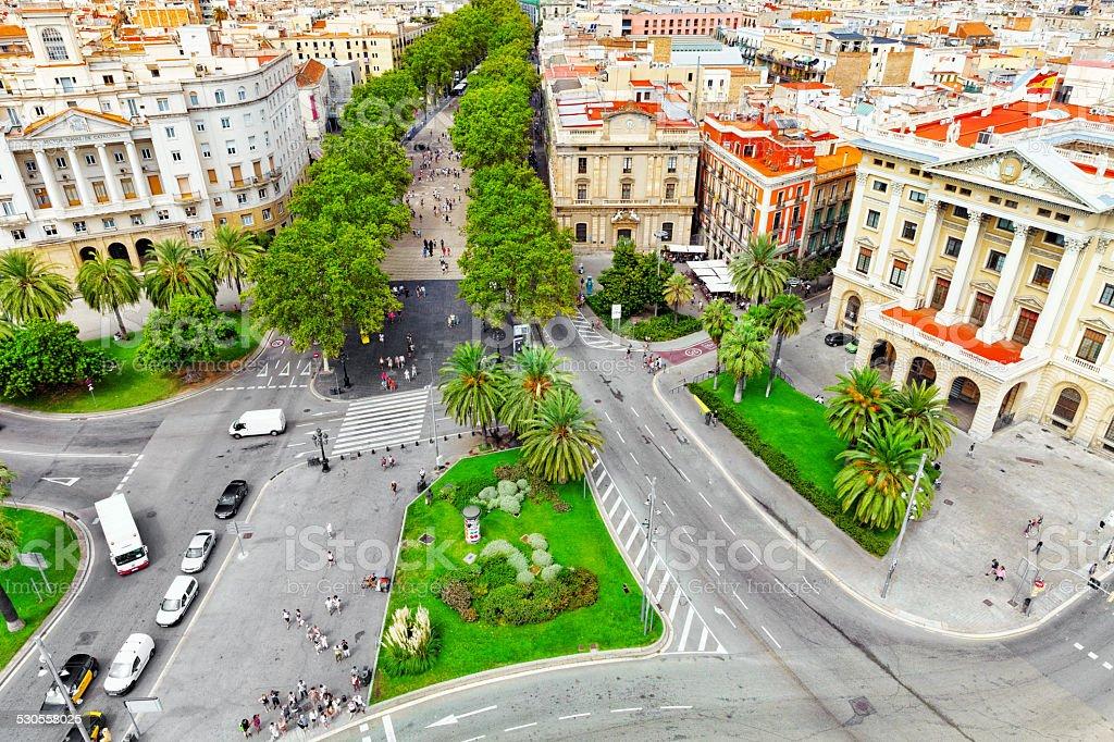 Panorama on Barcelona . stock photo